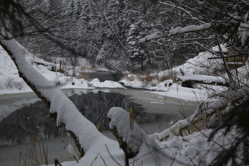 ahja jõgi talvel